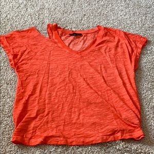 Sanctuary cold shoulder t-shirt.